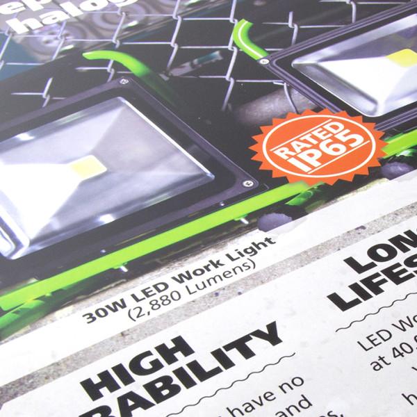 Snapp Eco-Lighting – LED Worklight Poster
